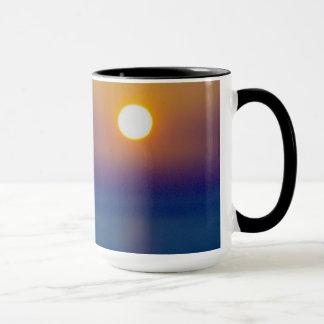 Mug Coucher du soleil du nord de cendre volcanique de