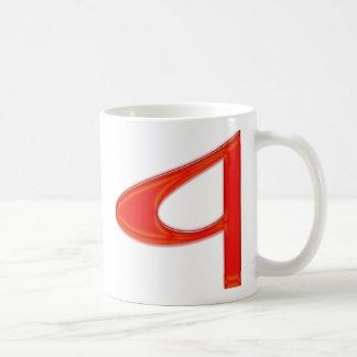 """Mug Couleurs vibrantes musicales de la lettre """"a"""""""