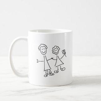 Mug Couples de sourire de pair des amants dessinant la