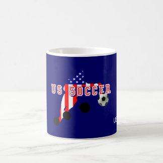 Mug Courbure de footballeur des USA il aiment un