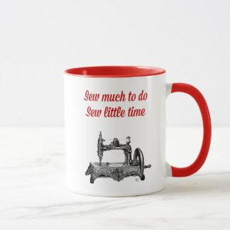 Mug Cousez peu d'illustration de temps