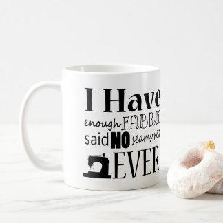 Mug Couture - pas assez d'humour de métier de tissu