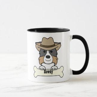 Mug Cowboy border collie