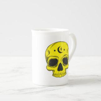Mug Crâne artistique (jaune)
