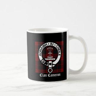 Mug Crête et tartan de Cameron de clan
