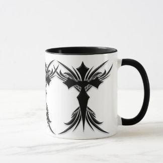 Mug Croix à ailes par noir