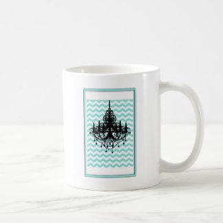 Mug Cru de motif d'impression de Chevron de lustre