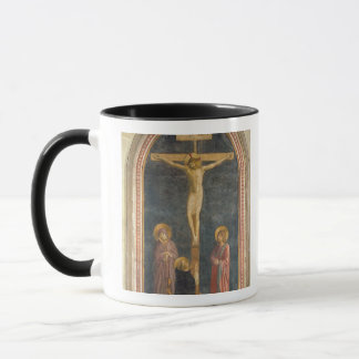 Mug Crucifixion avec la Vierge, solides solubles. John
