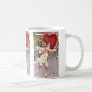 Mug Cupidon victorien vintage de Saint-Valentin avec