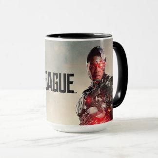 Mug Cyborg de la ligue de justice | sur le champ de