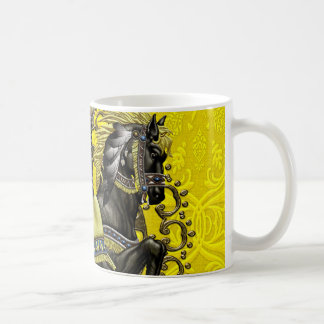 Mug Damassé jaune canari