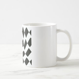 Mug Damier déformé noir et blanc