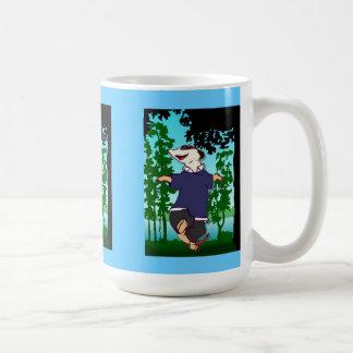 Mug Danse de Meerkat par la forêt