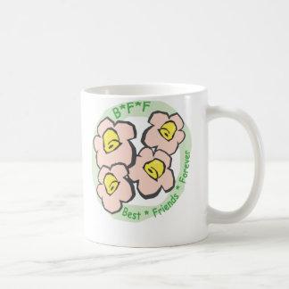 Mug De BFF de meilleurs amis fleurs roses pour