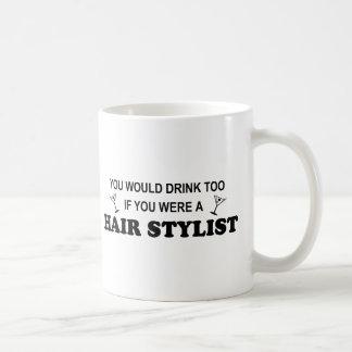 Mug De boissons coiffeur trop -