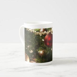 Mug De Noël de l'arbre I de vacances vert et rouge