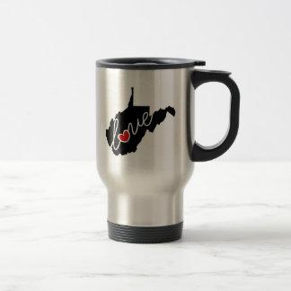 Mug De Voyage Amour de la Virginie Occidentale !  Cadeaux pour