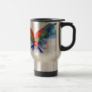 Mug De Voyage Ara de perroquet d'Amazone