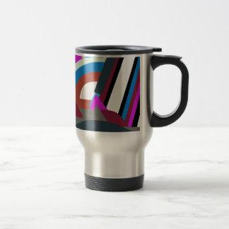 Mug De Voyage Art abstrait moderne élégant