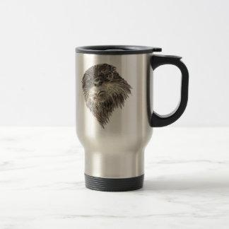 Mug De Voyage Art curieux mignon d'animal d'aquarelle de loutre