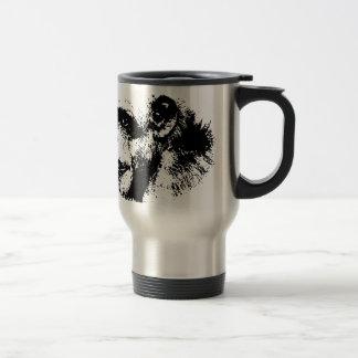 Mug De Voyage Art de bruit noir et blanc de chimpanzé
