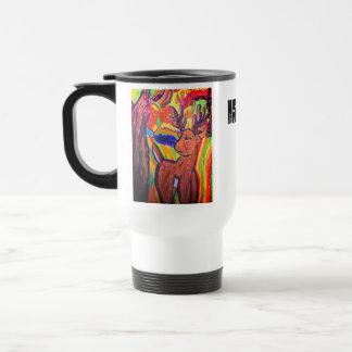 Mug De Voyage art de cerfs communs