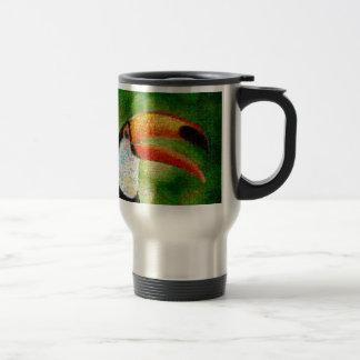 Mug De Voyage Art de collage-toucan de toucan - art de collage