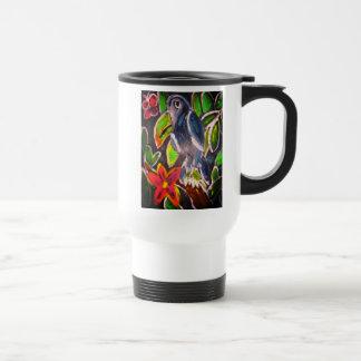 Mug De Voyage Art de toucan de forêt tropicale