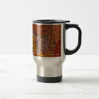 Mug De Voyage Art indigène, artiste : Walangkura Napangka
