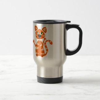 Mug De Voyage Art orange drôle de chat de tigre