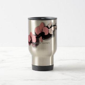 Mug De Voyage asiatique-sentiment, orchidées de papier