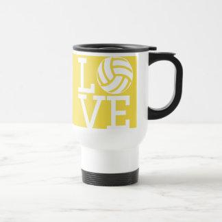 Mug De Voyage Athlète préféré de volleyball bon - sport jaune