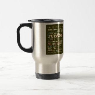 Mug De Voyage Attractions et endroits célèbres de Tucson,