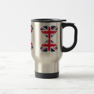 Mug De Voyage Baisers des drapeaux BRITANNIQUES de coeurs