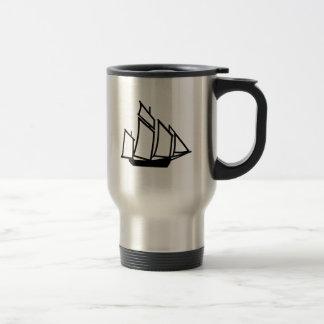 Mug De Voyage Bateau de bateau à voile