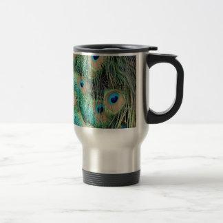 Mug De Voyage Belles plumes de paon avec le nouveau rouspéteur