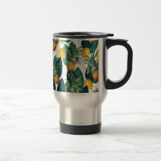 Mug De Voyage blanc d'ananas et de citron