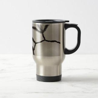 Mug De Voyage Blanc de lustre de craquement