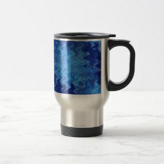 Mug De Voyage bleu de motif de vague créé par Tutti