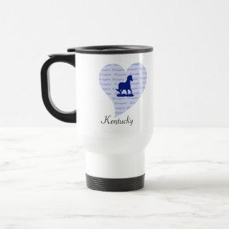 Mug De Voyage Bleu du Kentucky de cheval de Lexington KY |