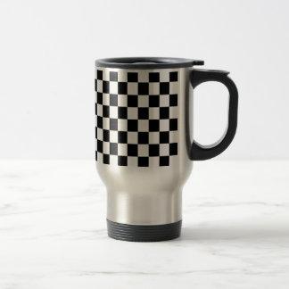 Mug De Voyage Carré noir et blanc