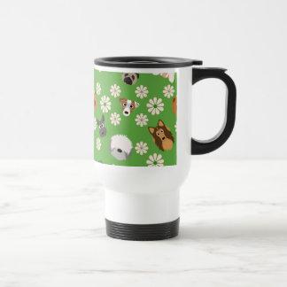 Mug De Voyage Chiens et fleurs