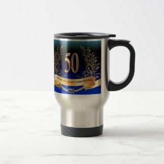 Mug De Voyage Cinquantième cadeaux élégants d'anniversaire de