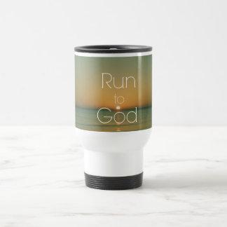 Mug De Voyage Citation chrétienne inspirée courue à Dieu