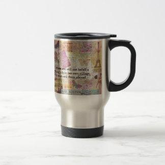 Mug De Voyage Citation d'aventure de voyage de Jane Austen