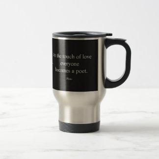 Mug De Voyage Citation de Platon ; Le contact de l'amour