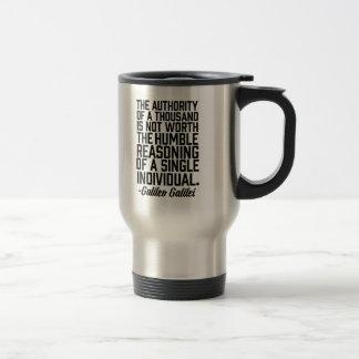 Mug De Voyage Citation individuelle de motif de Galileo Galilei