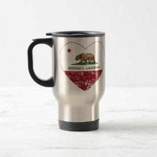 Mug De Voyage coeur d'Anderson de drapeau de la Californie