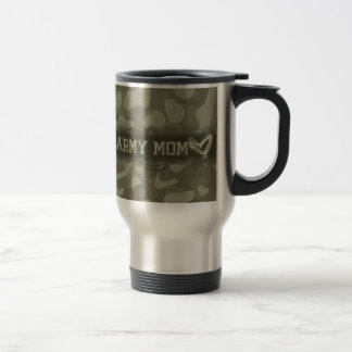 Mug De Voyage Coeur de maman d'armée de camouflage des