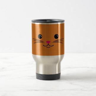 Mug De Voyage Conception animale mignonne de visage de chat